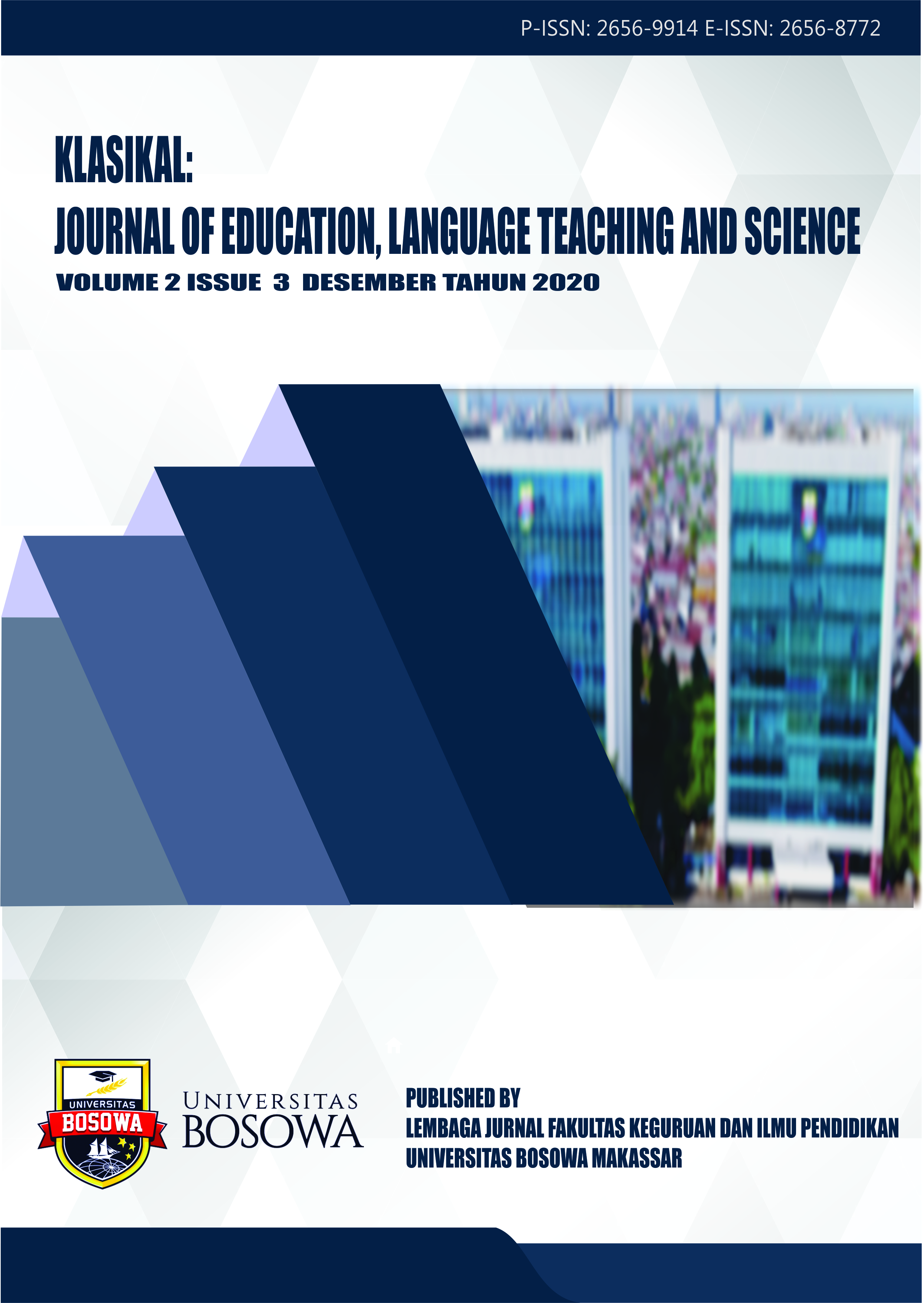 View Vol. 2 No. 3 (2020): Klasikal: Journal of Education, Language Teaching and Science